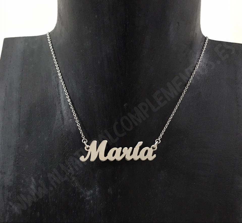Collar Personalizado Nombre en plata