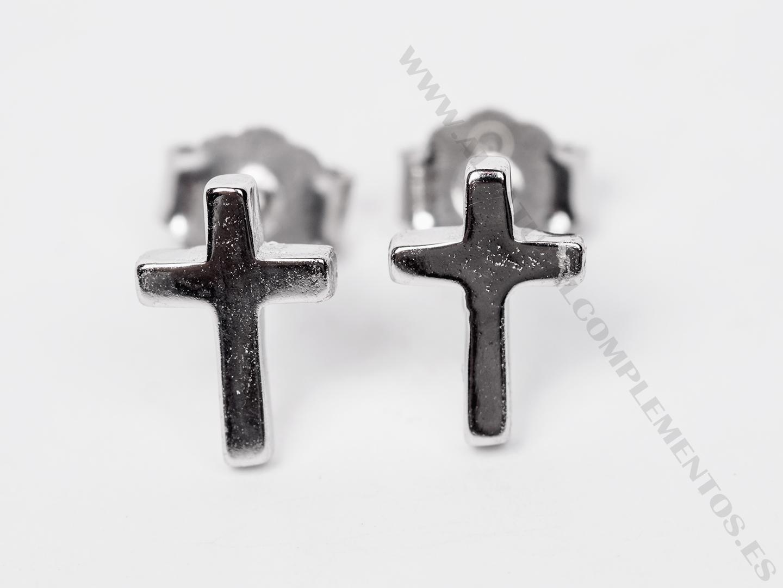 Pendientes Cruz de plata