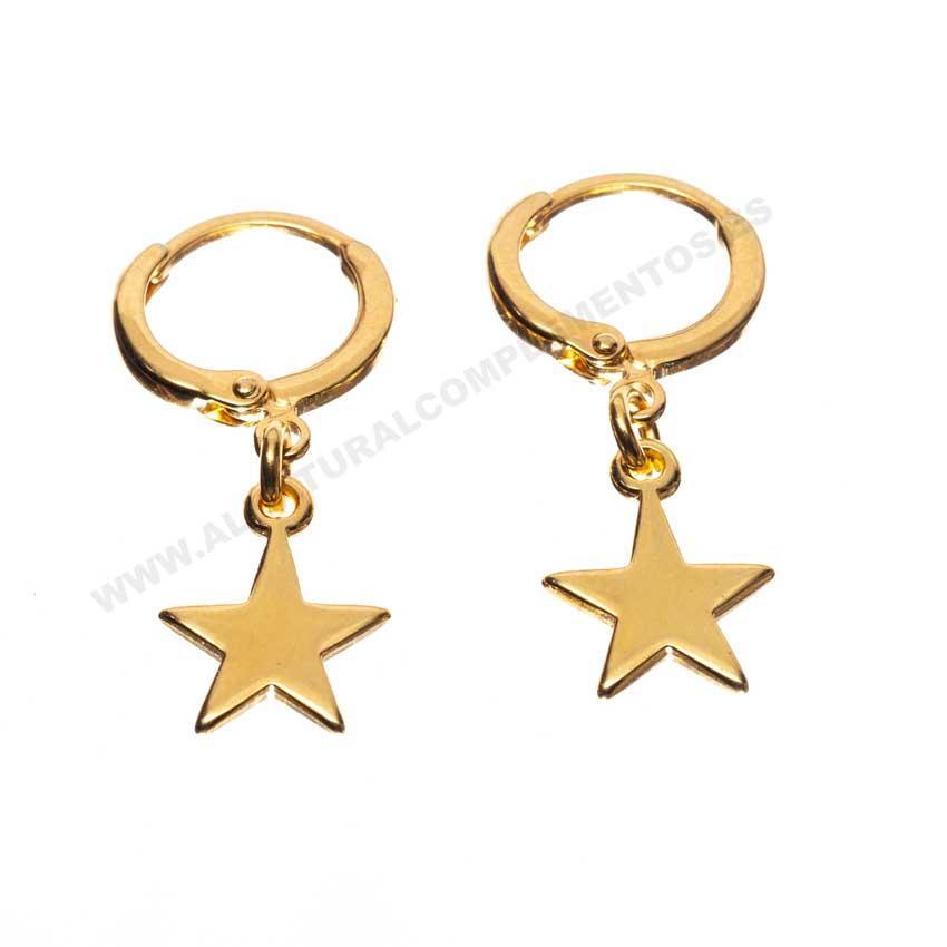Pendientes Estrellas Dorado