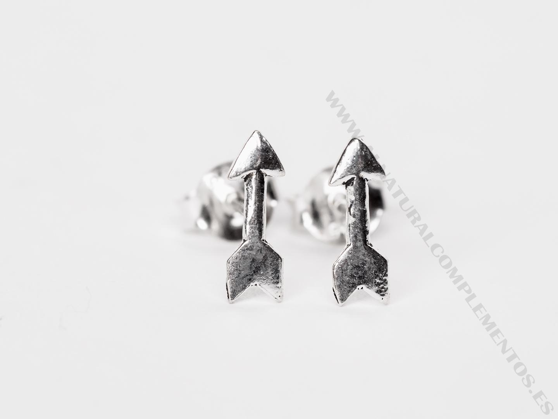 Pendientes flecha plata