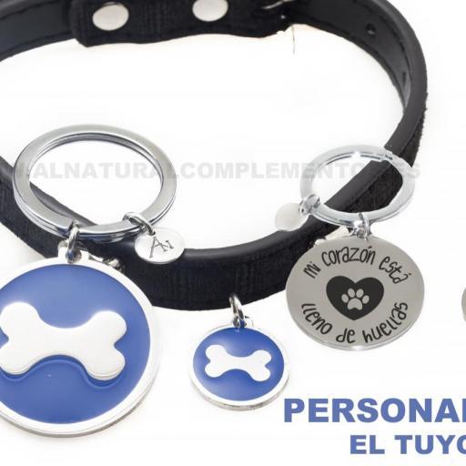 Pack Llavero y chapa personalizada para mascotas [1]