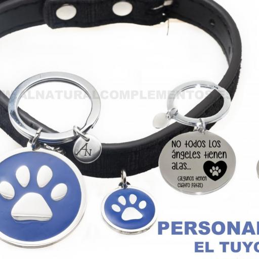 Pack Mascotas: llavero personalizado más placa personalizada mascota [1]