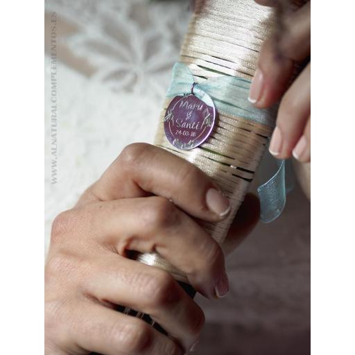 Chapa personalizada para ramo de novia [2]