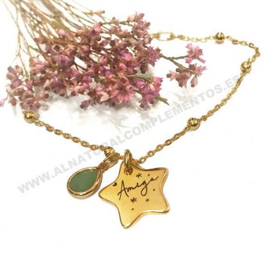 Pulsera Amigas Gold Star