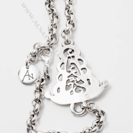 Pulsera Virgen del Rocío con cadena