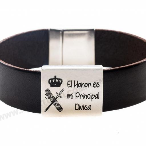 Pulsera Cuero Guardia Civil