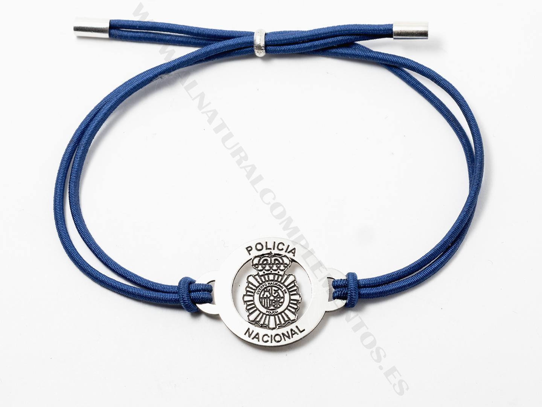 Pulsera Policía Nacional de Plata