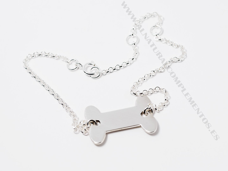 Pulsera mascotas plata