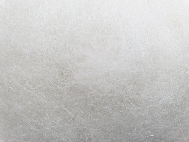 Lana Cardada Relleno Shetland Blanco