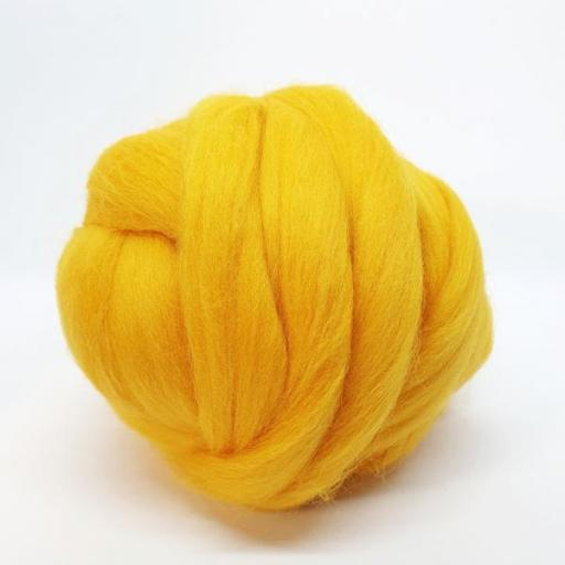 Lana peinada Fina Amarillo Sol [1]