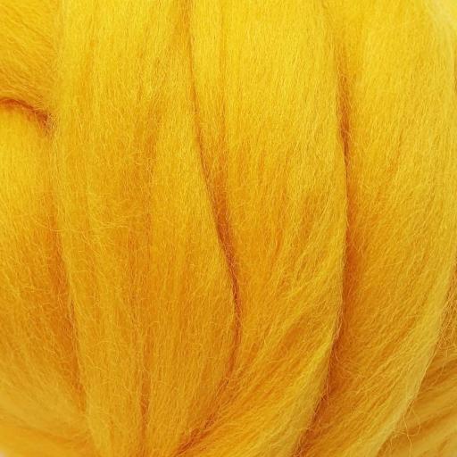 Lana peinada Fina Amarillo Sol