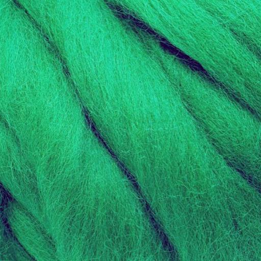 Lana Peinada Fina Verde Cesped