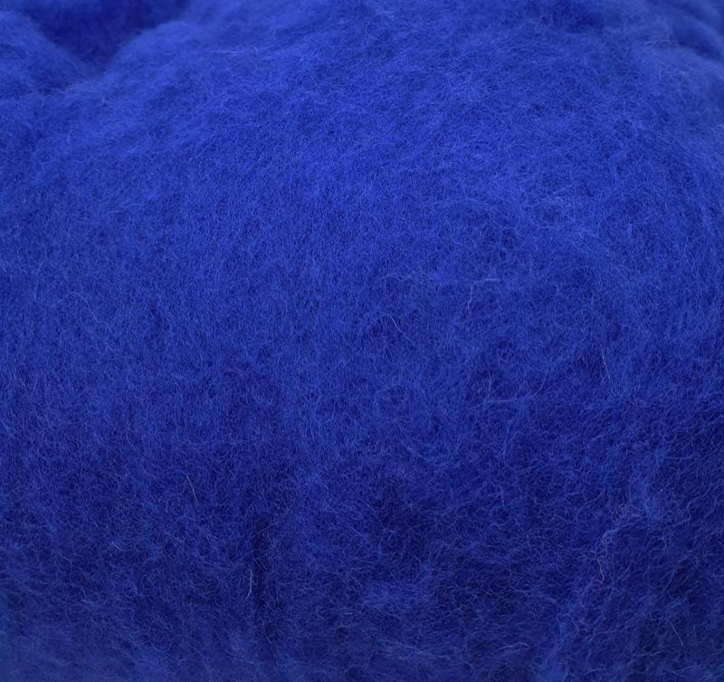 Lana Cardada Fina Azul Europa