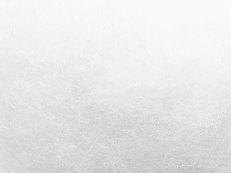 Lana Cardada Fina Blanco Nieve
