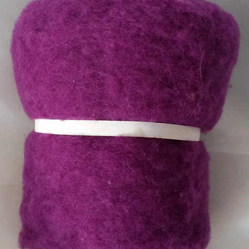Lana Cardada Extrafina Púrpura Oscuro