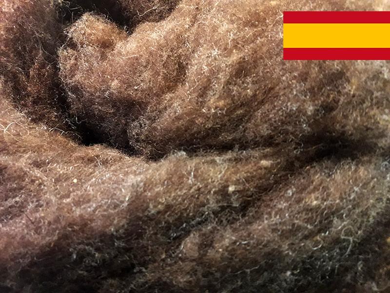 Lana Cardada Española Marrón Natural