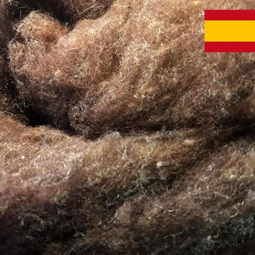 Lana Cardada Marrón Española