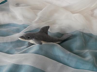 Delfín felting