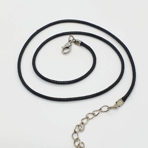 Gargantilla cordón trenzado negro [1]