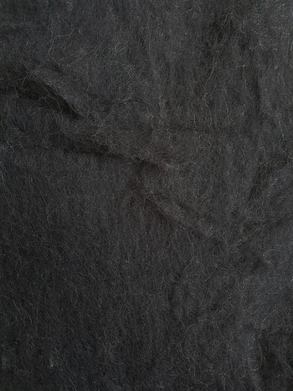 Lana Cardada fina Negro Natural