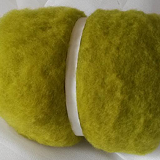 Lana Cardada Extrafina verde claro