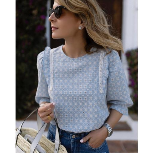 Blusa Provence in Blue (Ref. 5507) [3]