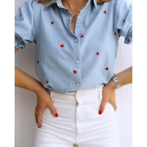 Blusa Blue & Red Hearts (Ref.5533)