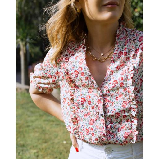 Blusa Flowers in Red (Ref.5541)