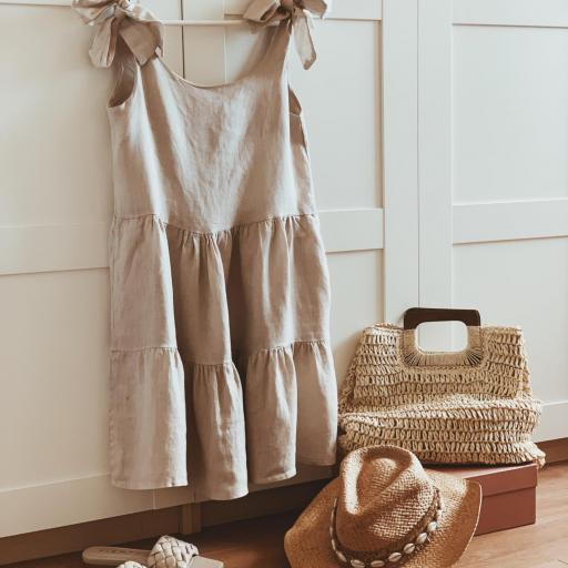 Vestido Linen Lazos (Ref.4087) [1]