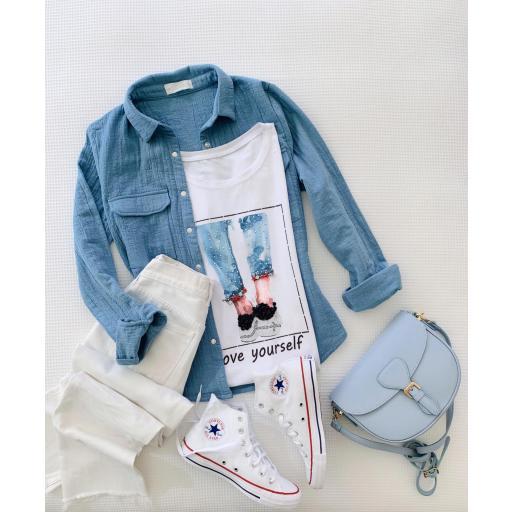 Camiseta Jeans (Ref.5472)