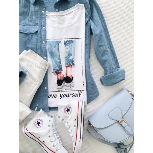 Camiseta Jeans (Ref.5472) [1]