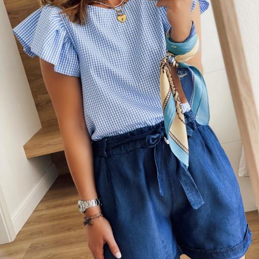 Blusa Blue Vichy (Ref.5700) [1]