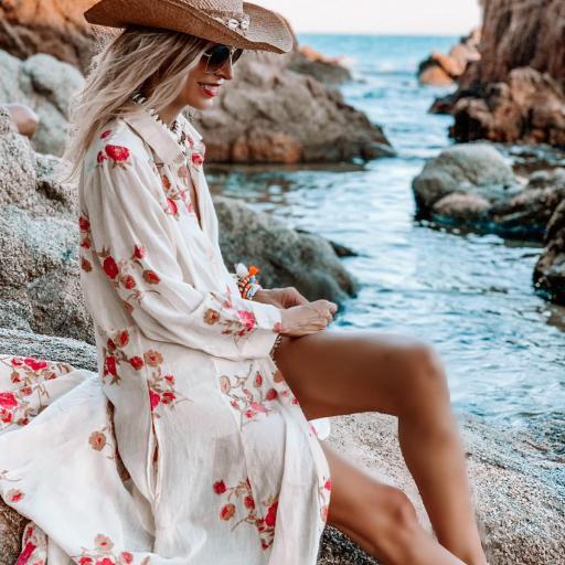 Vestido Kimono Largo Velvet (Ref.4117) [1]