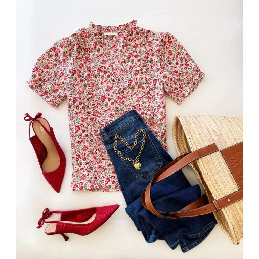 Blusa Flowers in Red (Ref.5541) [3]