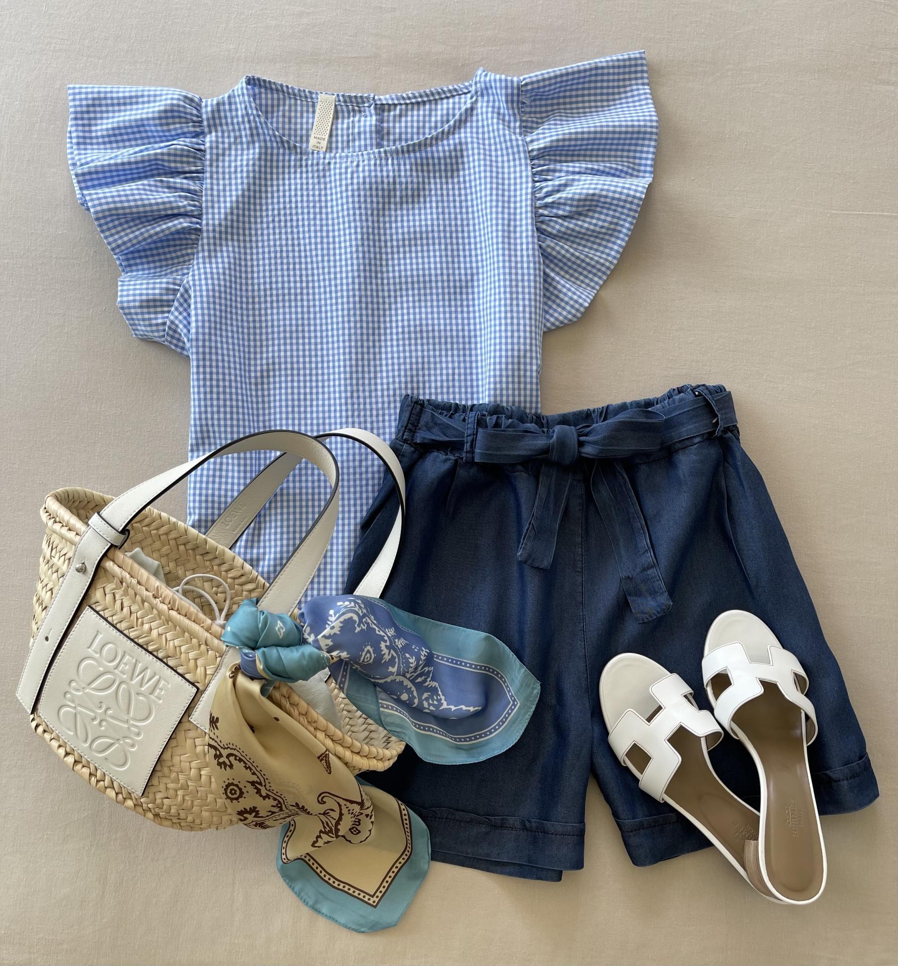 Blusa Blue Vichy (Ref.5700)