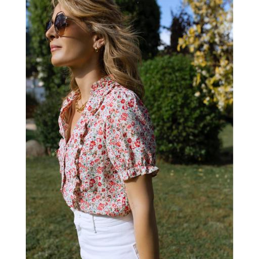 Blusa Flowers in Red (Ref.5541) [2]