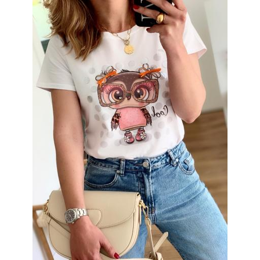 Camiseta Owl Girl (Ref.5468)