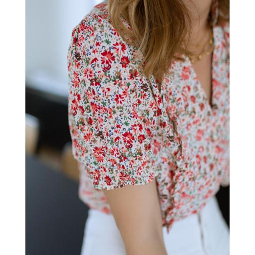 Blusa Flowers in Red (Ref.5541) [1]