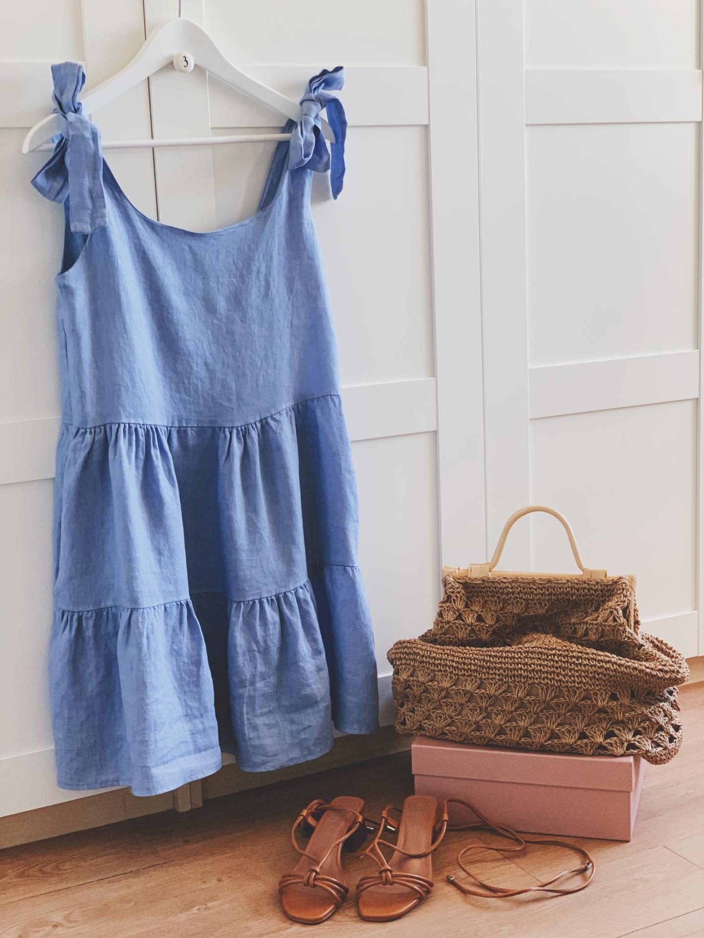 Vestido Linen Lazos (Ref.4087)