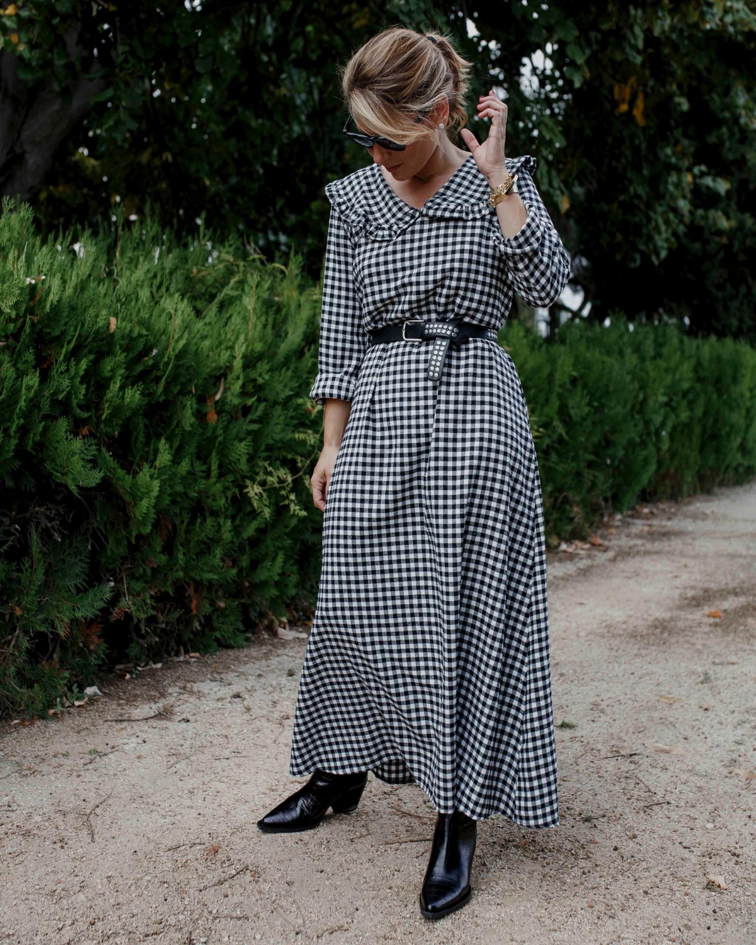 Vestido Vichy Largo (Ref.4272)