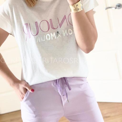 Camiseta Bonjour (Ref.3173)