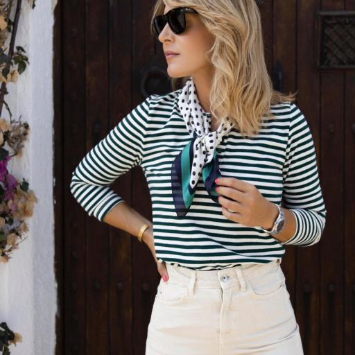Jersey Fino Green Stripes (Ref.5764)