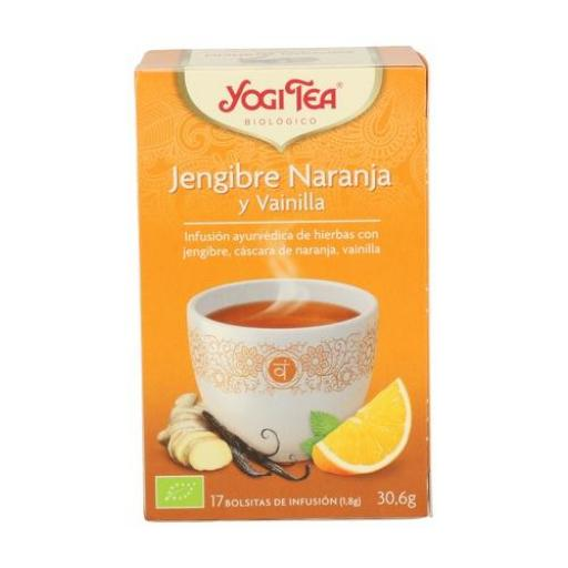 Té Jengibre, naranja y vainilla