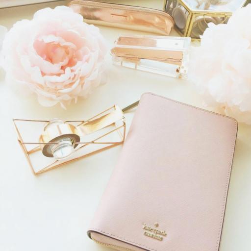 Cartera rosa pastel