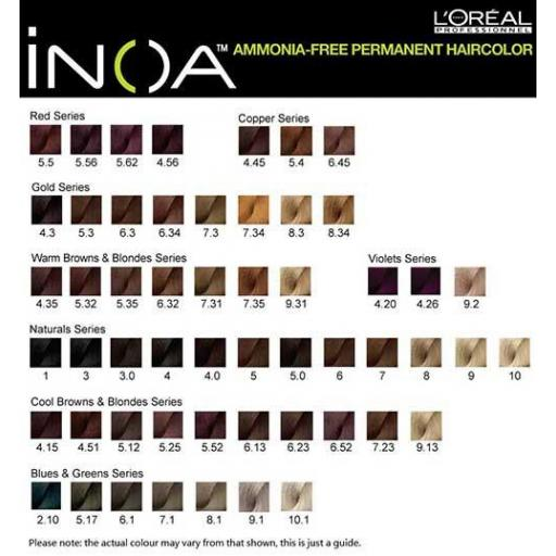 Tinte Inoa 6.34 Rubio Oscuro Dorado Cobrizo (Incluye Oxidante) [2]