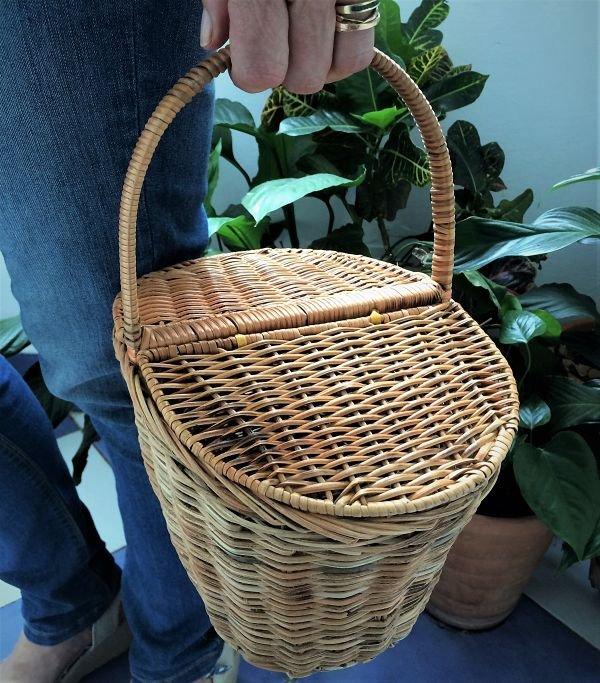 cesta de bambú pequeña con tapas