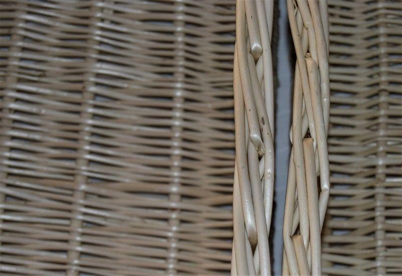 Cajón de mimbre detalle cesta de calidad