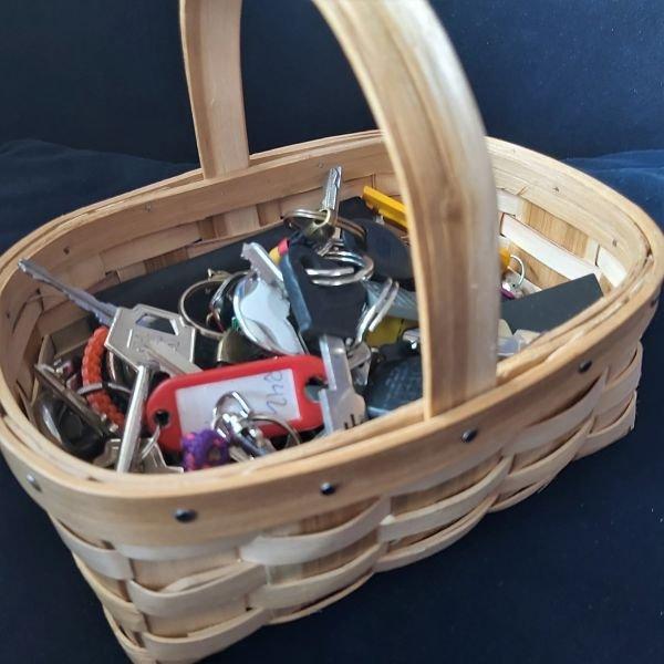 Mini cesta de castaño