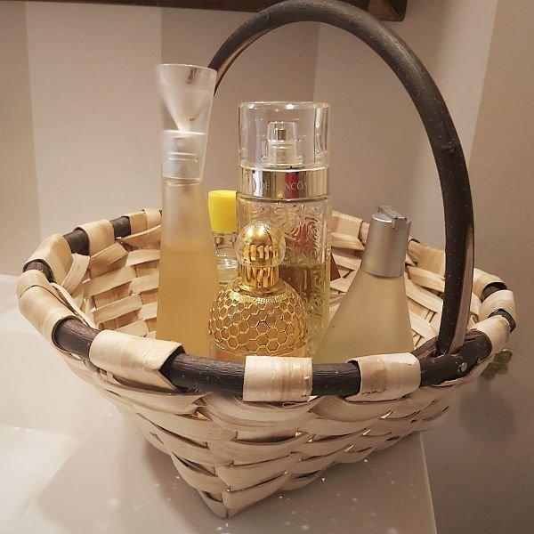 cesta redonda de castaño