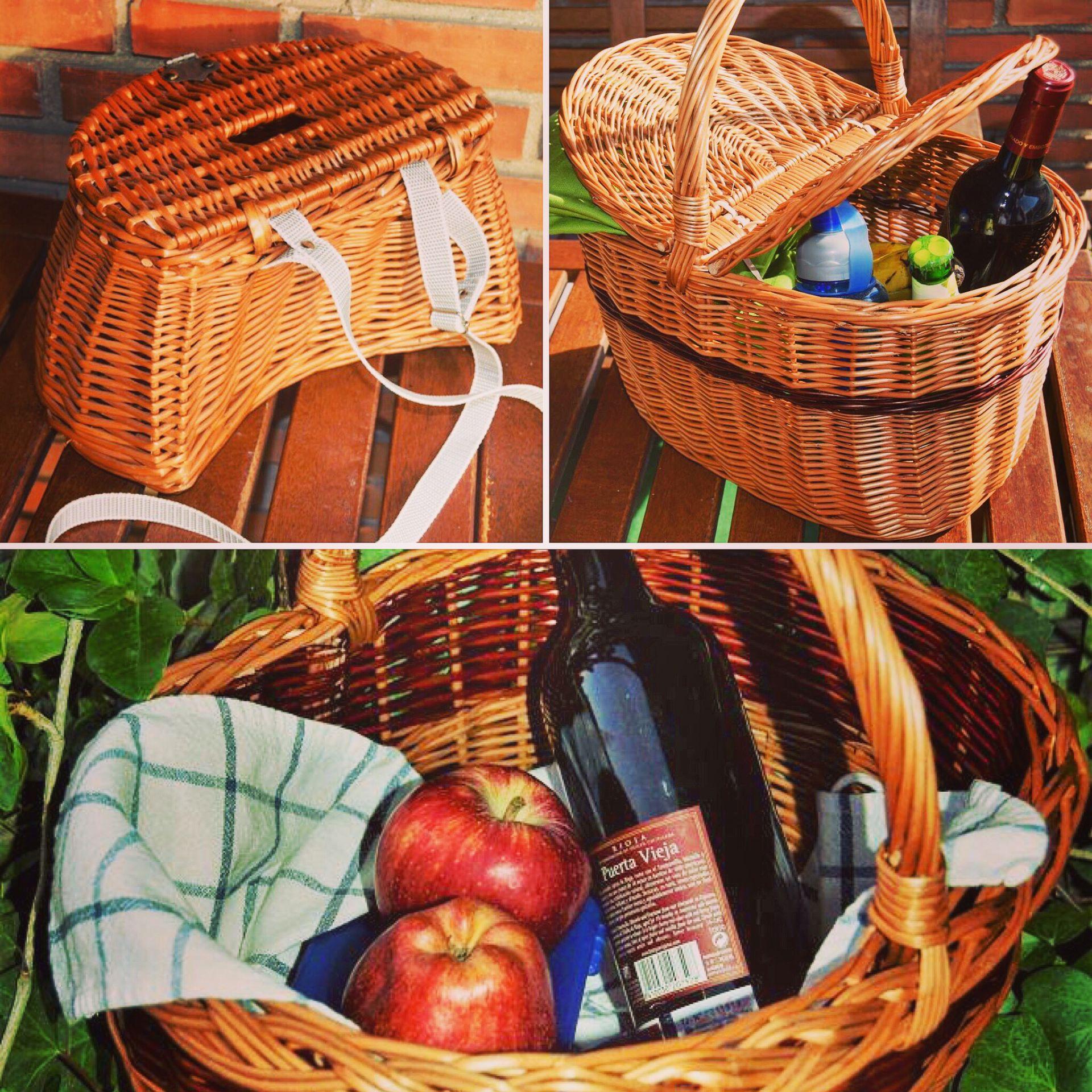 Cestas para el campo, cesta de merienda, cesta de picnic, cesta para la bici